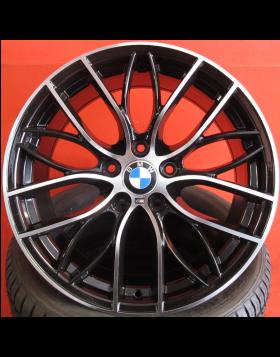 """Jantes 18"""" Novas BMW Serie 1 Pack M mod 2016 Pretas Polidas"""