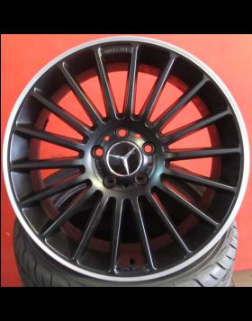 """Jantes 18"""" Novas Mercedes AMG Pretas Polidas mod 2016"""