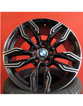 """Jantes 18"""" Novas BMW Serie 3, Serie 4, Serie 5 modelo 2017 Pretas Polidas"""